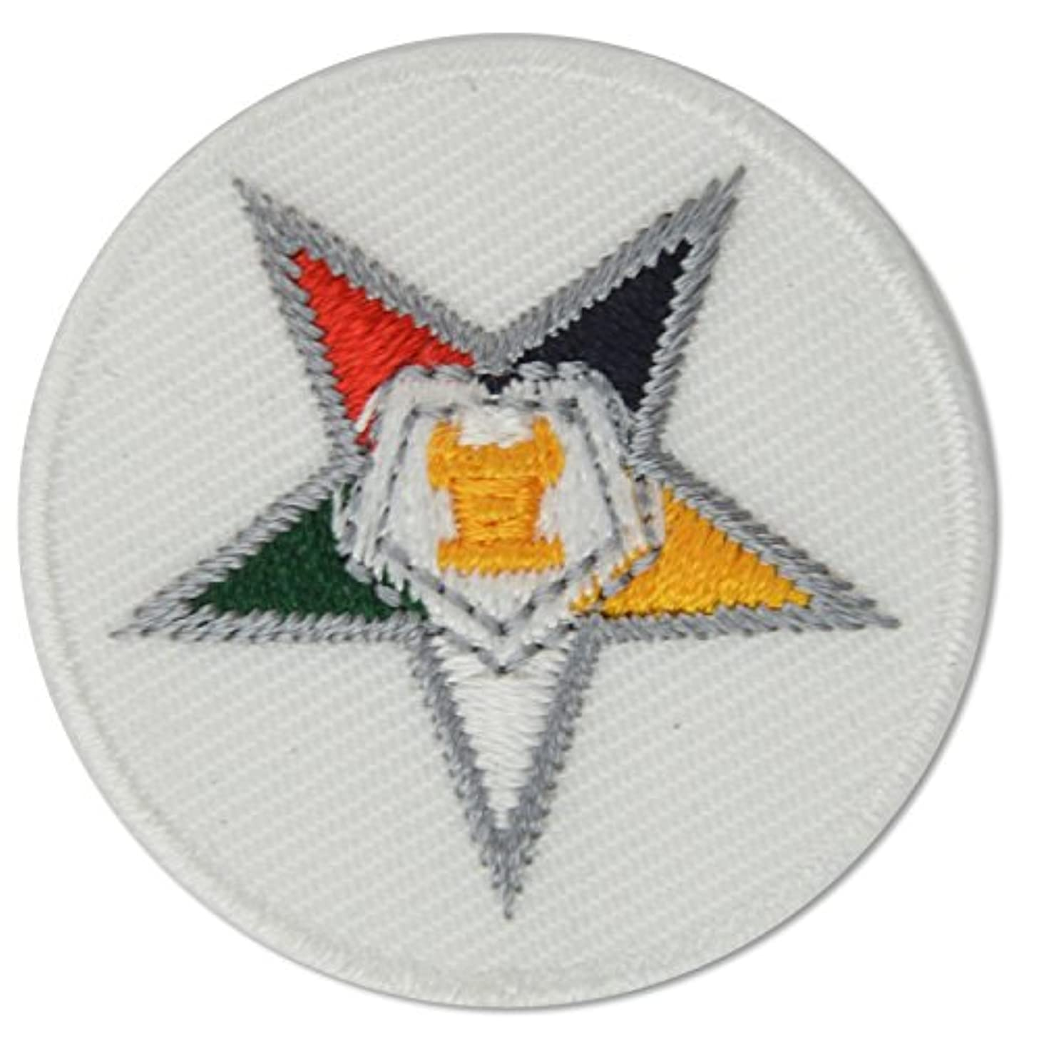 Order of The Eastern Star Embroidered Masonic Patch - 1 1/2