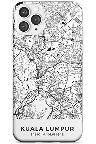 Case Warehouse Karte Von Kuala Lumpur, Malaysia Schlank Handykette Hülle für iPhone 11 Pro Max | Clear Silikon TPU Schutz Leicht Ultra dünn Hülle Muster Printed | Reise Fernweh Europa Stadt Streets