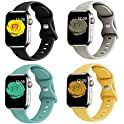 4-Pack Silicone Replacement Sport Strap Bands for Apple Watch (various)