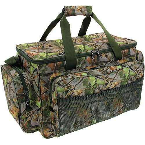 CARP PIKE FISHING TACKLE BAG HOLDALL CAMO NGT Insulated Bait Tackle Bag