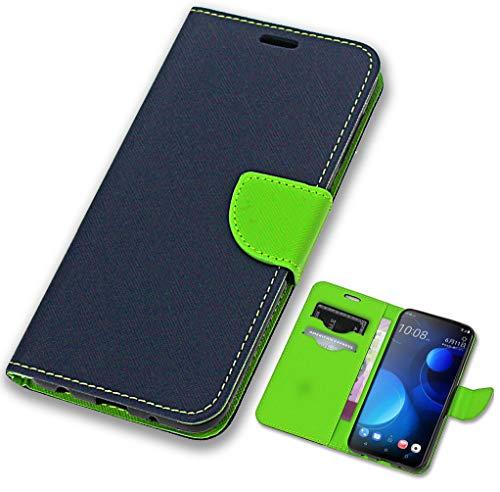 CoverOne Handyhülle für HTC Desire 19+ Hülle, Premium Leder Flip Schutzhülle Handytasche Case Cover für HTC Desire 19 Plus Tasche