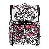 Mokale Illustrazione di inchiostro Allegoria femminile estate su,Zaino Borsa da viaggio da trekking College Student School Bookbag Viaggio Daypack per uomo o donna