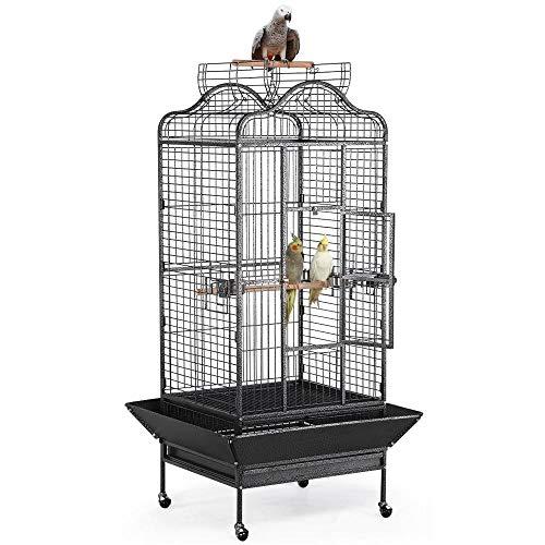 Yaheetech Käfig Vogelvoliere Vogelkäfig Vogelhaus Tierkäfig mit Rollen 180cm hoch