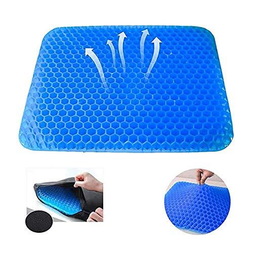 RLRL Honeycomb Gel Pad Cushion Cojín para Silla de Oficina Cojín ortopédico para Asiento Proporciona Soporte para la Postura de la Espalda del cóccix, Alivio del Dolor de la ciática