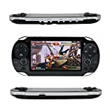 QUMOX Retro Handheld Game Console, Leezo 1PC Rechargeable 4.3inch 8GB Video Game Console Free 100 Games MP4 MP5 Players