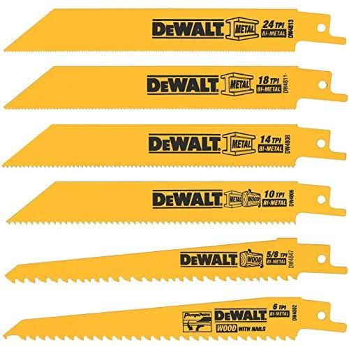 DeWalt 6 in. L x 3/4 in. W Bi-Metal Reciprocating Saw Blade 6 TPI 8 pk