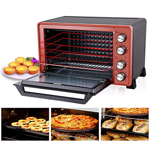 STBD-Ultra-Wide Convection Tabletop Oven, 3d Hot Convection Multi-Function Oven, Including Baking Tray, Grill, Slag Tray, 45l, Red