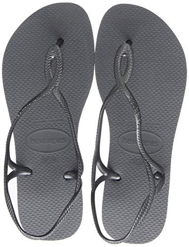 Havaianas Damen Luna Sandalen, Grey (Steel Grey), 39/40 EU