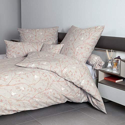 Janine Design Edelflanell Bettwäsche Chinchilla S 78038-04 Koralle Perle 1 Bettbezug 155 x 200 cm + 1 Kissenbezug 80 x 80 cm