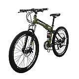 LZBIKE BICYCE G6-26 Mountain Bike 21 Speed Shift Left 3 Right 7 Folding Mountain Bike Frame...