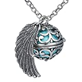 Bonnie 27' Music Chime Locket Pregnancy Pendant Wings Angel Caller Ball Pendant Necklace for Women Gift