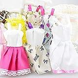 26 piezas – 10 piezas para muñecas Barbie,trajes de fiesta + 10 pares de accesorios de muñecas + 6 collares de muñeca para muñeca Barbie para niños regalos de juguete (vestido+zapatos+collar)
