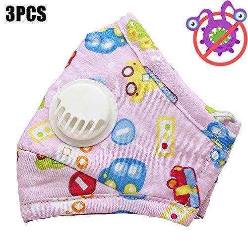 3pcs reutilizable niños nariz Filtros aire polvo