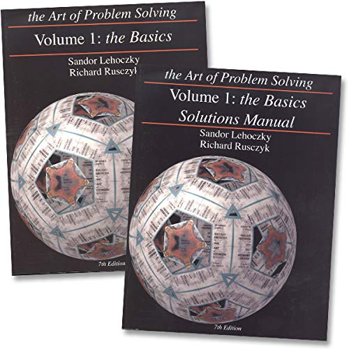NEW - Art of Problem Solving: Volume 1 Text & Solutions Books Set (2 Books) - Volume 1 Text & Volume...