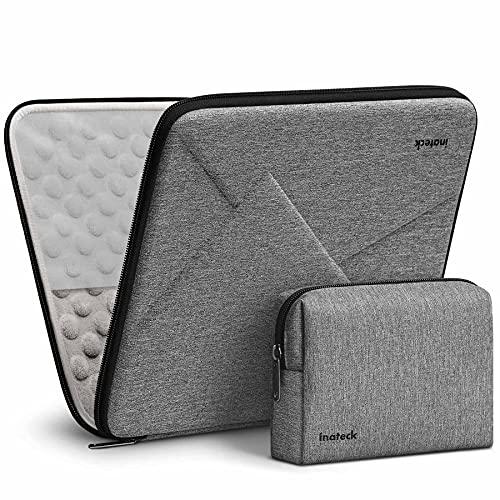 Inateck Superstarke Laptophülle Tasche Kompatibel mit MacBook Air 13 M1 2021-2018, MacBook Pro 13 M1 2016-2020, Surface Pro 7/6/X/5/4/3, XPS 13, Grau