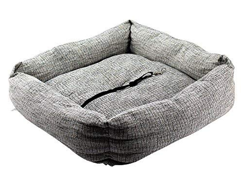 Home and Garden Products TRAVEL PET DOG PUPPY CAR SEAT BED COMFORT TRAVEL CUSHION BASKET CHAIR PROTECTOR MaxiPet … (Grey)
