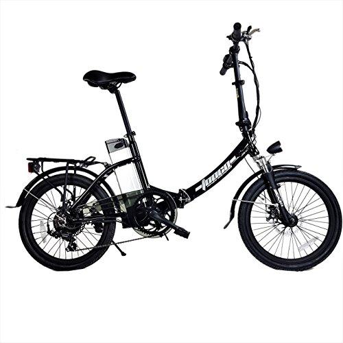 """DAS.BIKE Alu 20\"""" Klappbar Elektrofahrrad Faltbike E-Bike ebike Schwarz"""