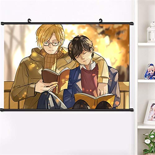 Henanyimeixiang JapóN Anime Banana Fish Ash Lynx Okumura Eiji Shorter Wong Cosplay Wall Scroll Poster Manga Wall Hang Poster Home Decor 40 * 60cm TamañO: 40x60cm