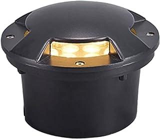 CHHD LED Garden Buried Light Round Landscape Lamp IP67 Waterproof Decking Lights, for Outdoor, Driveway, Garden, Pathway, ...