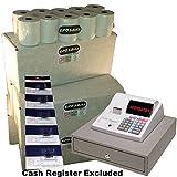 eposbits® marca 100rollos + 5x de tinta para Sharp xe-a130xea-130xea130caja registradora