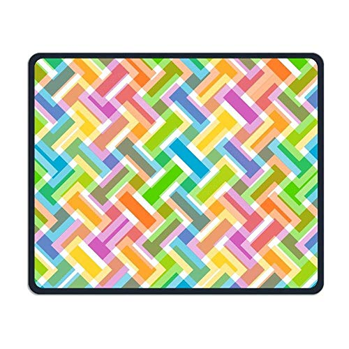 Gaming-Mauspad, Mauspads Abstract Colorful Vector Art Rectangle Rubber Mousepad Gaming Mouse Pad 9.8x12 Inch for Notebooks,Desktop Computers