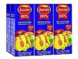 JUVER zumo melocoton uva manzana pack 6 unidades 200 ml
