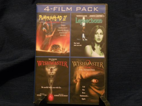 4- Film Pack (Pumpkinhead 2: Blood Wings / Leprechaun/ Wishmaster / Wishmaster 2)