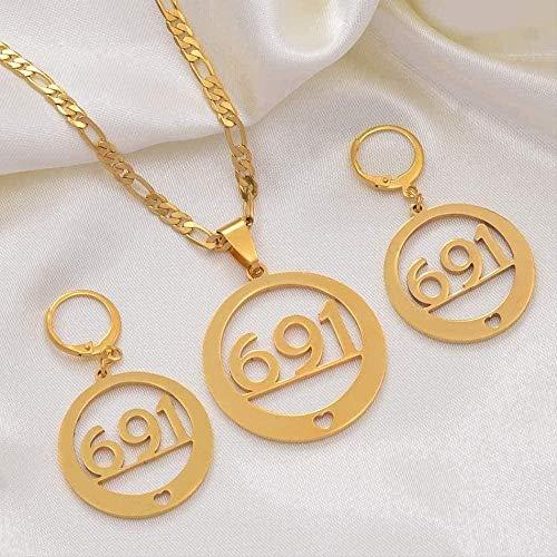 ZJJLWL Co.,ltd Collar Mujer Collar Collares Pendientes Conjunto de Joyas Moda Color Dorado Joyas Regalo étnico