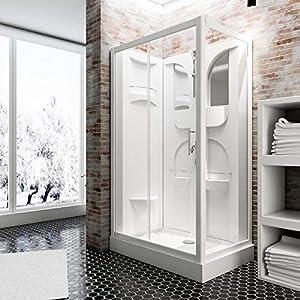 Schulte EP19195 Cabina de ducha completa, Blanco, 120 x 80 cm