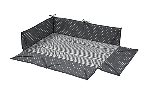 Geuther 2232LB - Parque y colchón para bebé. gris lunares Talla:97x68x25 cm