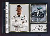 SGH SERVICES Poster Lewis Hamilton Mercedes Autogramm