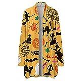 NHNKB Cárdigan - Disfraz de Halloween para mujer, chaqueta larga y fina, bolero para otoño, cárdigans abierto, sudadera con capucha, chaqueta de hombro, camiseta informal, Sty3-i, L