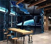 QQYYYT ウォールアートポスター-3D写真壁紙壁画パーソナリティスペースカプセルピクチャーアート壁紙3Dポスター壁装飾絵画