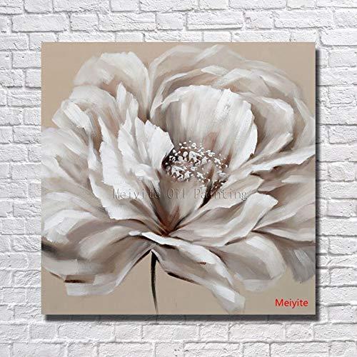 Verschillende bloemen abstract olieverfschilderij, muurschildering, woondecoratie, modern schilderij, olieverf op doek,handgeschilderd, geen frame70cmx70cm
