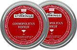 Stirrings Simple Cosmopolitan Cocktail Rimmer, TWO 3.5 oz. (99g) Cans