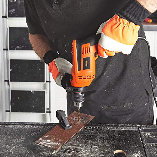 VonHaus Hammer Drill/Impact Drill 710w Electric Corded with Hard Case, Drill Bits, Depth Gauge, Variable Speed – 13mm Chuck for Masonry, Brick, Metal, Wood & More