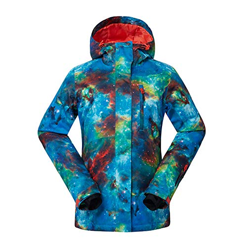 GSOU SNOW Women's Ski Jacket Windproof Waterproof Snowboarding Jacket Women Snow Suit Colorful Ski Clothes Coat … (Style3, X-Small)