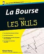 La Bourse Pour Les Nuls de GERARD HORNY