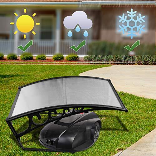 Hengda Copertura di Garage 105x85x45 cm Garage per Tagliaerba Policarbonato Trasparente Protezione da Pioggia, grandine e Raggi UV Facile da Utilizzare Sicuro Durevole Tetto per Robot Tosaerba