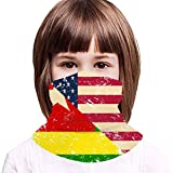American and Togo Retro Flag2 Kids Neck Gaiter,Windproof Dustproof Face Scarf for Camping 13.8x7.9 in