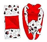 Reducteur de lit Bebe – Nid Cocon Bebe Baby Nest Coton 5 pièces Rouge 90x50 cm