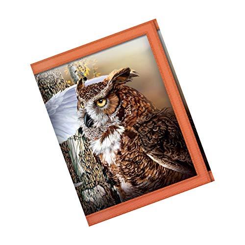 3D LiveLife Carteras - Búho en el Bosque de Deluxebase. Cartera lenticular 3D de Fauna Silvestre. Billetera con Monedero y Tarjetero con ilustración del reconocido Artista Steven Michael Gardner