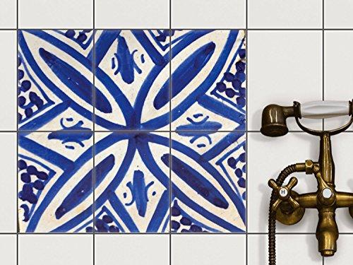 Piastrelle Adesivo 20x 15cm 1x 1Design Spanish Tile 7(, Motivo & Ornamenti) Pellicola Adesiva Cucina Bagno