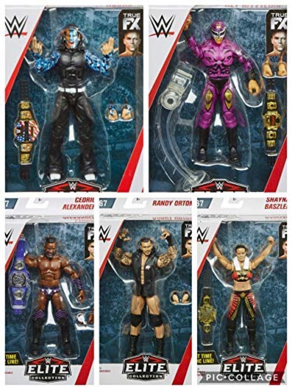 Alle 5 Komplett WWE Elite Figur Wrestling Mattel Serie 67