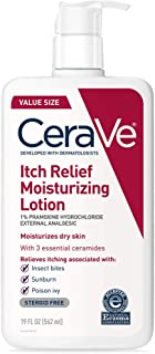 CeraVe Moisturizing Lotion for Itch Relief | 19 Ounce | Dry Skin Itch Relief Lotion with Pramoxine Hydrochloride | Fragrance Free