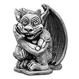 gartendekoparadies.de Großer, lustiger Gargoyle der Spinner Torwächter aus Steinguss, frostfest