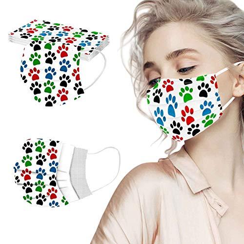 10 Piezas para Niños, 4 Capas, Cordón Elástico para Orejas de Seguridad, Máscara Colorida, con Cepillo Bucal de Algodón, Tela no Tejida Transpirable