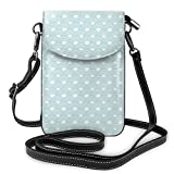 Jiger Women Small Cell Phone Purse Crossbody,Big And Nested Circles Lapping Over Conceptual Ocean...