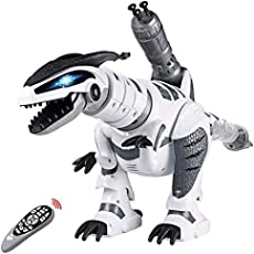 Remote Control Dinosaur Toys, Interactive Programmable Robot Dinosaur Smart Fight Electronic Toy Gift for Toddler 3-10 Year Old Boys Girls with Walking Dancing Singing