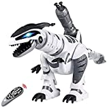 DX DA XIN Remote Control Dinosaur Toys, Interactive Programmable Robot Dinosaur Smart Fight Electronic Toy Gift for Toddler 3-10 Year Old Boys Girls with Walking Dancing Singing